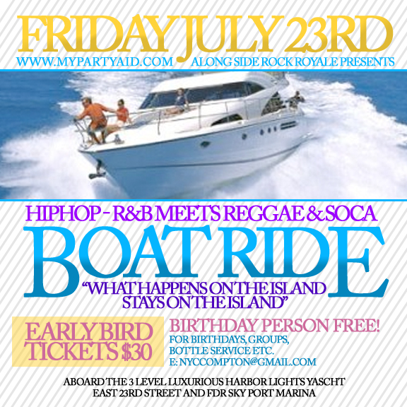 Summer Series Boat Ride Hiphop R Amp B Meets Reggae Soca