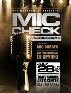 Mic Check Wednesdays at Times Square Arts Center