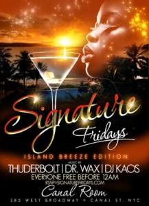 Signature Fridays Island Breeze Canal Room NYC