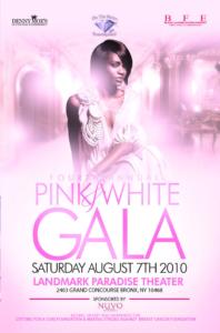 pink white gala landmark paradise theatre