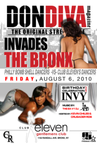 Don Diva invades the BX at Club Eleven Philly bombshell dancers vs. NYC Club Eleven Dancers