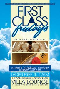 First Class Fridays Villa Lounge