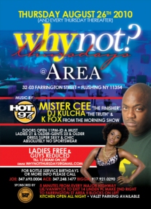 Why Not Thursdays Area Queens Thursday August 26
