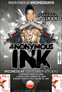 Anonymous Wednesdays Anonymous Ink Suzie Wong September 8 NYC