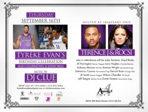 Tyreke Evans Birthday Bash NYC Amnesia September 16 Thursday