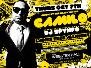 Ladies Night Webster Hall Thursday October 7 NYC DJ Camilo