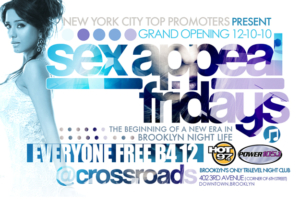 Sex Appeal Fridays Crossroads Brooklyn NYC