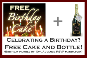 motion mondays birthday party free birthday cake and bottle