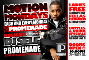 motion monday at promenade with DJ Self NYC club hiphop