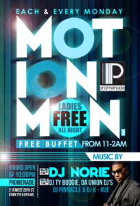 motion mondays promenade nyc nightclub dj norie