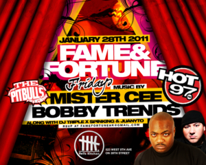 Fame and Fortune Fridays Mister Cee Bobby Trends Friday January 28 2011