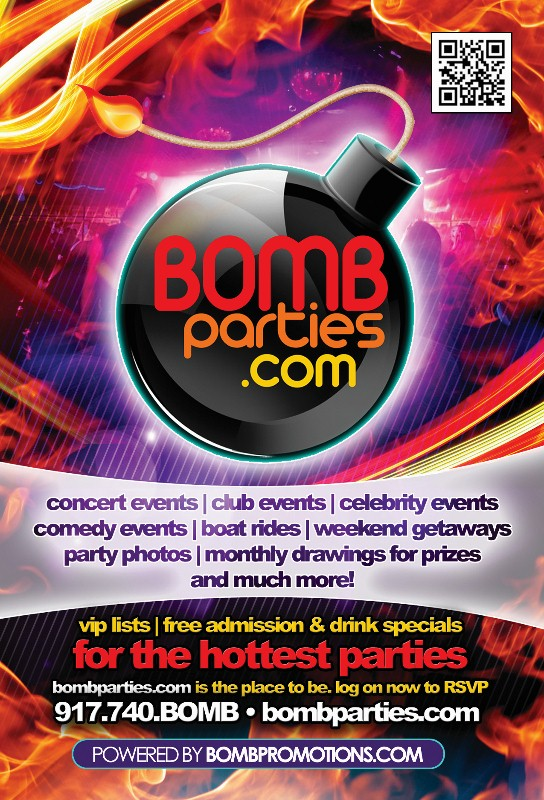 Bombparties flyer