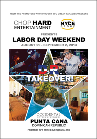 Labor day weekend dr takeover occidental resort punta cana thursday