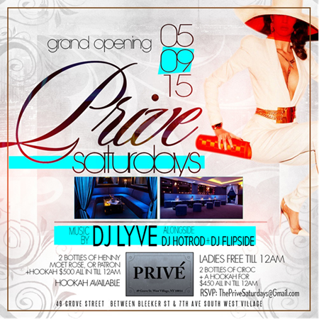 Prive Saturdays