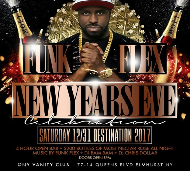 bombparties funk flex new years eve party at Ny Vanity