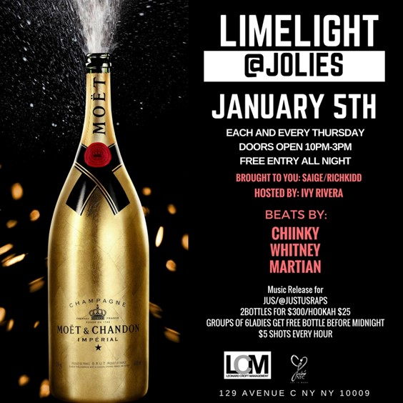 Bombparties Limelight Thursdays @ Jolie