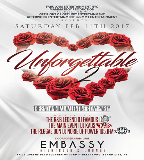 unforgettable at embassy bombparties bottle specials