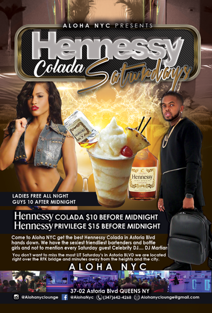 Bombparties at Hennessy Colada Saturdays At Aloha NYC