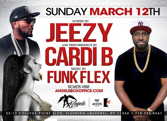 funk Flex, Cardi B And Jeezy at Angels