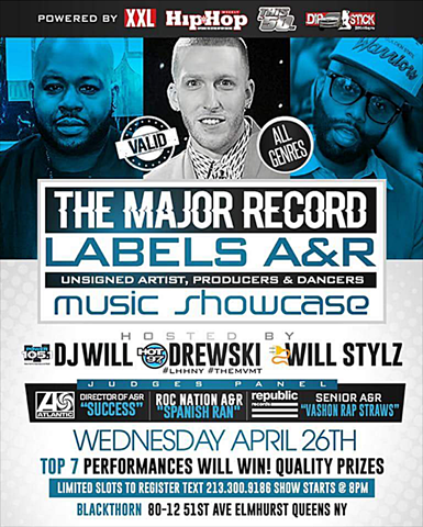 The Major Record Labels A&R Music Showcase