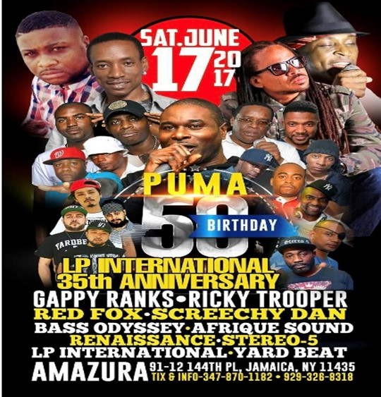 Puma 50th Birthday & LP International 35th Anniversary Party @ Amazura Saturday June 20, 2017