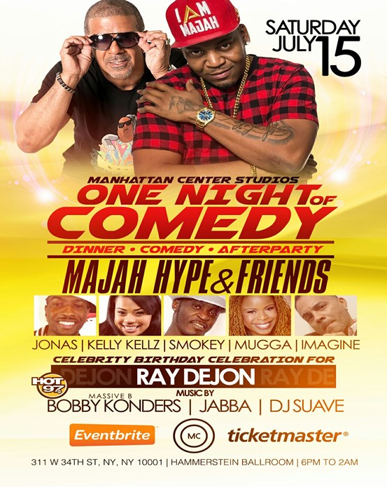 ONE NIGHT OF COMEDY DINNER COMEDY & AFTERPARTY
