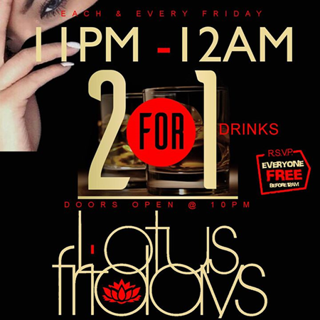 Lotus Fridays @ Suite 36 Every Friday