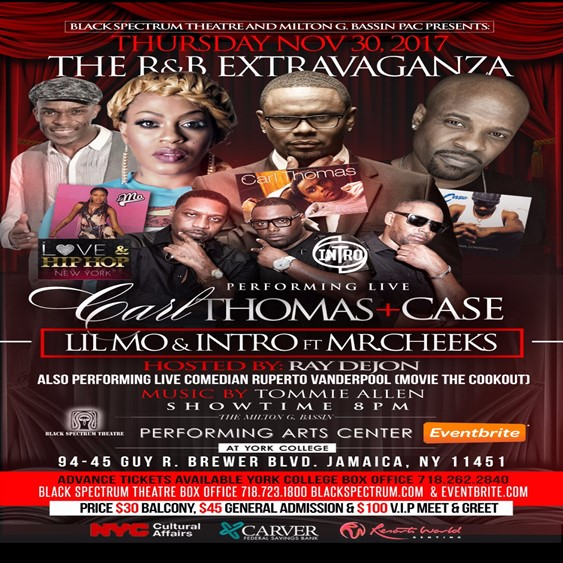 The R&B Extravaganza @ Black Spectrum Theater Thursday November 30, 2017
