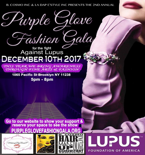 Presents The 2nd Annual Purple Glove Fashion Gala @ The Pacific BK Sunday December 10, 2017