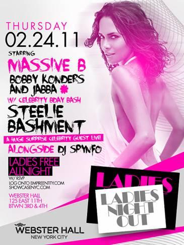 DJ STEELIE BASHMENT at Ladies Nights @ Webster Hall Thursday