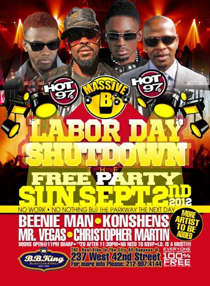 Labor Day Weekend Labor Day Shutdown The Free Party Bb Kings