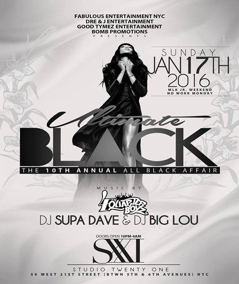 ultimate black the 10th annual all black affair studio xxi