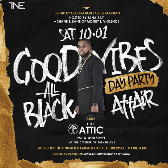 good vibes all black affair day party the attic saturday october 1